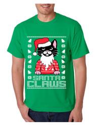 Men's T Shirt Santa Claws Cat Ugly Xmas Cute Cats Lover Gift