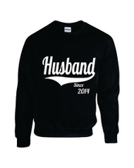 Man Sweatshirt Husband Since 2014 Gift Wedding Couple