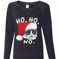 HO HO cat Ladies Long Sleeve