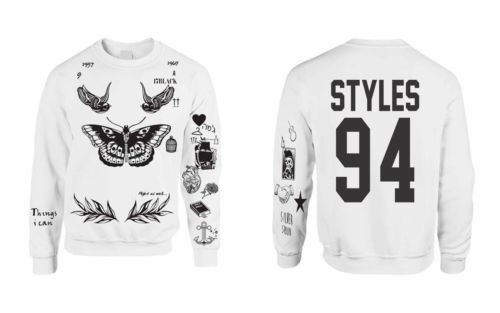 f240e943babb Harry Styles 94 Tattoos Sweatshirt One Direction - CUSTOM TS