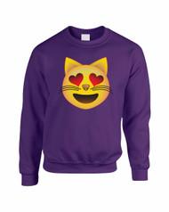 Cat in love men Sweatshirt