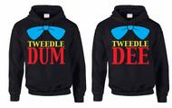 Tweedle dee Tweedle dum couples gifts Hooded Sweatshirt