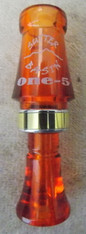 "SUTTER BASIN ""ONE-5"" MALLARD CALL; AMBER/AMBER TRANSPARENT"