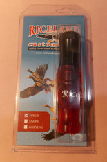 "RICELAND 3/4"" POLY SPECK CALL - RED/BLACK"