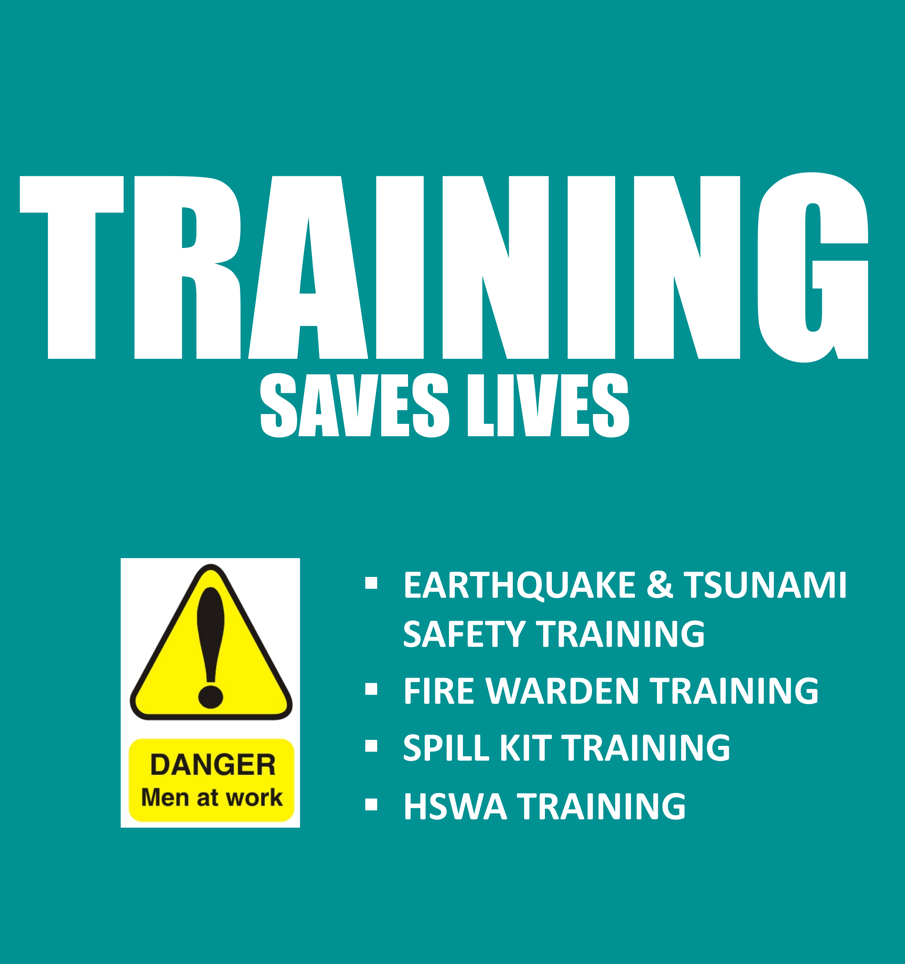 Earthquake & Tsunami Safety Training, Fire Warden Training, Spill Kit Training, HSWA Training