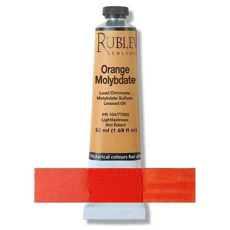 Rublev Colours Dry Pigments 100g - S3 Orange Molybdate