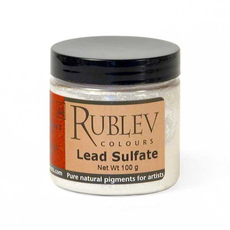 Rublev Colours Dry Pigments 100g - S3 Lead Sulfate