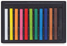 Conte A Paris  Flat Plastic Box Set Crayons - 12 Assorted Colours