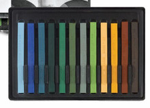 Conte A Paris  Flat Plastic Box Set Crayons - 12 Landscape Colours