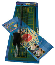 Ruler & Cutter plus Cutting Mat (25cm Mat)