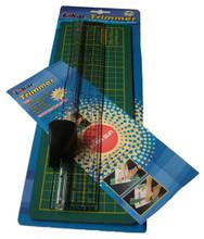 Ruler & Cutter plus Cutting Mat (25cm Mat)
