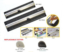 "Aluminium Rule & Cutter - 21"" / 55cm"