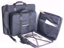 Florence Portfolio 'Soft Sided' Black Nylon Wide Body - A3