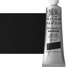 Winsor & Newton Designers' Gouache 37ml - Ivory Black S1