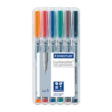 Staedtler Lumocolor Non Permanent Superfine - Box of 6 Colour (0.4mm)