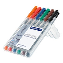 Staedtler Lumocolor Non Permanent Medium - Box o 6 Colour (1.0mm)
