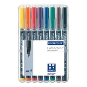 Staedtler Lumocolor Permanent Medium - Box of 8 Colour (1.0mm)