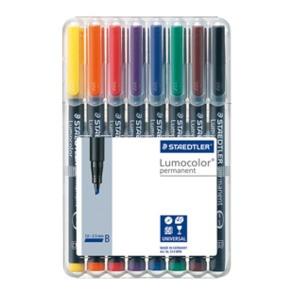 Staedtler Lumocolor Permanent Broad - Box of 8 Colour (2.5mm)