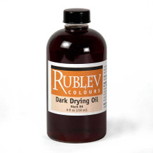 Rublev Oil Medium Dark Drying Oil (Black Oil) - 8 fl oz