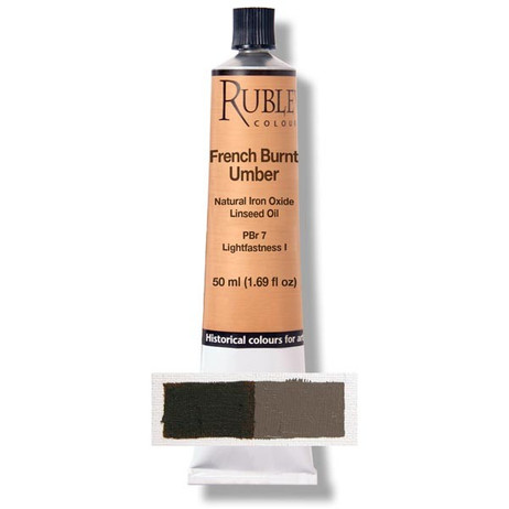 Rublev Artists Oil 130ml - S1 French Burnt Umber