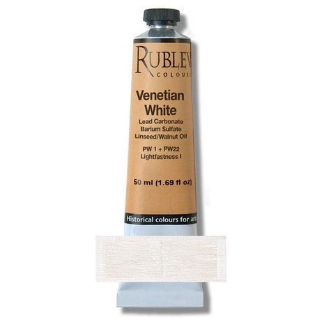 Rublev Artists Oil 130ml - S4 Crystal White