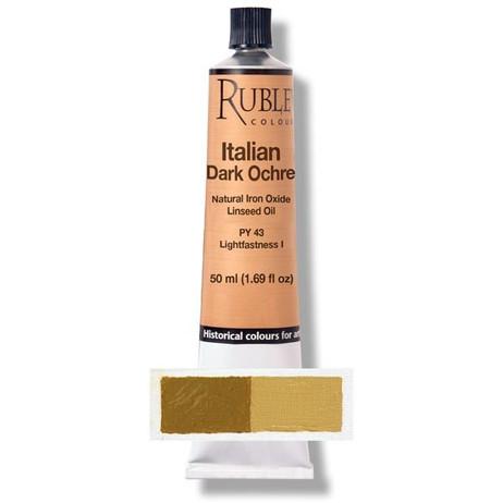 Rublev Artists Oil 50ml - S1 Italian Dark Ochre