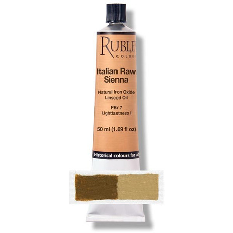 Rublev Artists Oil 50ml - S1 Italian Raw Sienna