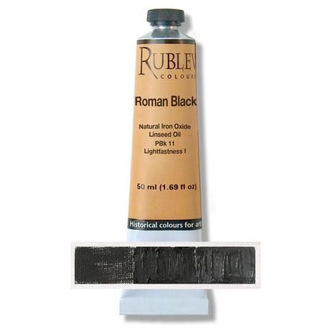 Rublev Artists Oil 50ml - S1 Roman Black