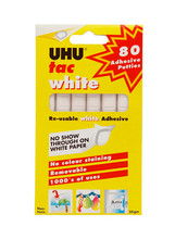 UHU Tac Reusable White Adhesive - 80 Pieces