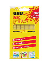 UHU Tac Reusable Yellow Adhesive - 80 Pieces