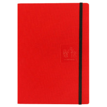 Caran D'Ache Notebook Canvas Cover A5 Lined Pages - Red   |  454.603