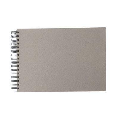 """Wire-O Sketchbook 130gsm 110pgs - A4/11.7"""" x 8.3"""" Landscape, Pasteboard"""