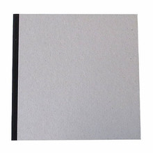 "Pasteboard Cover Sketchbook 100gsm 144pgs - 21cm x 21cm/8.3"" x 8.3"" - Black"