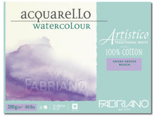 FABRIANO ARTISTICO TRADITIONAL WHITE 4 SIDES GLUED PAD ROUGH 25 SHEETS 200GSM 30.5X45.5CM