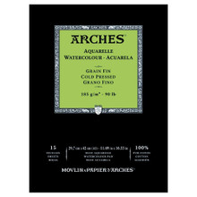 Arches Watercolour Pad Medium 185GSM - A3