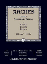 Arches Dessin Drawing Pad Cream 200GSM - 26cm x 36cm