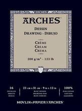 Arches Dessin Drawing Pad Cream 200GSM - 26cm x 36cm