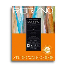 Fabriano Studio Watercolour 200GSM Pad Hot Pressed (Smooth) 20 Sheets - 28cm x 35.6cm
