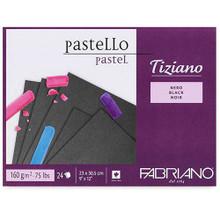 Fabriano Tiziano Pastello Pastel Pad - Black Sheets - 23cm x 30.5cm