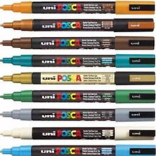 Uni Posca Bullet Tip Assorted Colours Box of 12