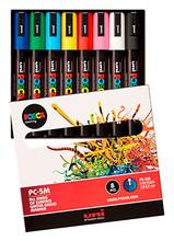 Uni Posca Medium 8 Piece Assorted Colours