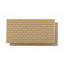 Textured Polystyrene Sheet, Through-Stamped, Medium Olive-Grey Brickwork - 1:50