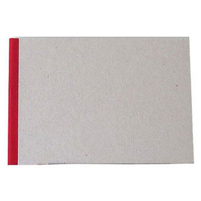 """Pasteboard Cover Sketchbook 100gsm 144pgs - A5/8.3"""" x 5.8"""" Landscape - Red"""