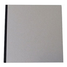 "Pasteboard Cover Sketchbook 120gsm 132pgs - 29cm x 29cm/11.4"" x 11.4"" - Black"