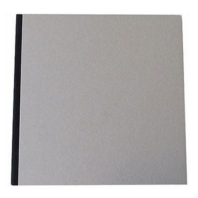 "Pasteboard Cover Sketchbook 120gsm 132pgs - 29cm x 29cm/11.4"" x 11.4"" - Black"
