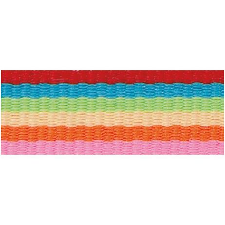 Rico Design Fabric Ribbon - Stripes, Multicolour Basic