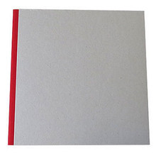 """Pasteboard Cover Sketchbook 120gsm 132pgs - 29cm x 29cm/11.4"""" x 11.4"""" - Red"""