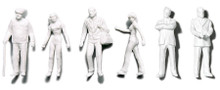 Preiser Unpainted Detailed Walking Figures - 1: 50