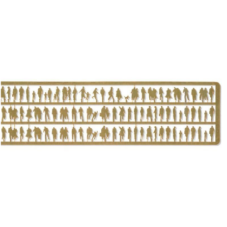 Etched Brass Silhouette Figures
