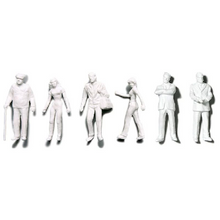 Preiser Unpainted Detailed Various Figures (Standing, Walking, Businessmen) - 1:100